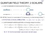 quantum field theory 2 scalars