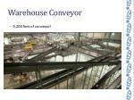 warehouse conveyor