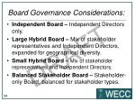 board governance considerations