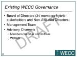 existing wecc governance