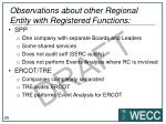 observations about other regional entity with registered functions