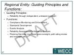 regional entity guiding principles and functions