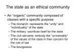 the state as an ethical community