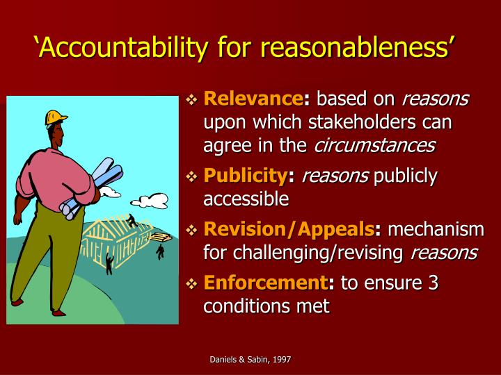 'Accountability for reasonableness'