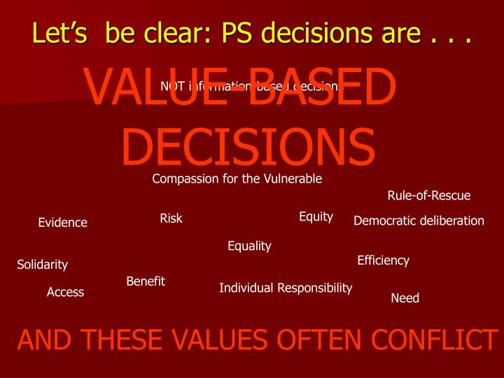 Let's  be clear: PS decisions are . . .