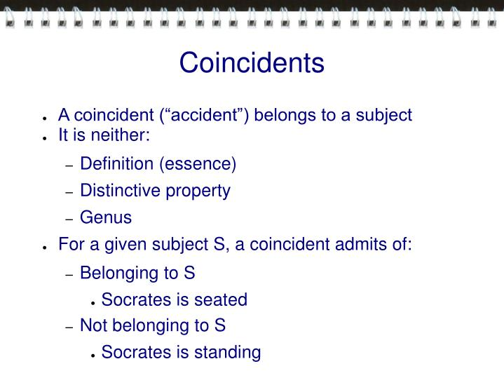 Coincidents