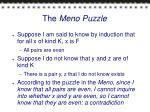 the meno puzzle