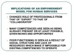 implications of an empowerment model for human services1