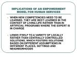 implications of an empowerment model for human services2