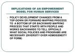 implications of an empowerment model for human services3