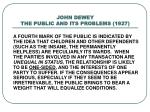 john dewey the public and its problems 1927
