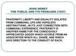john dewey the public and its problems 19271