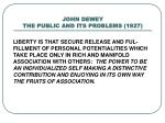 john dewey the public and its problems 19272