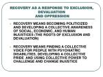 recovery as a response to exclusion devaluation and oppression3