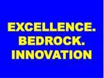 excellence bedrock innovation
