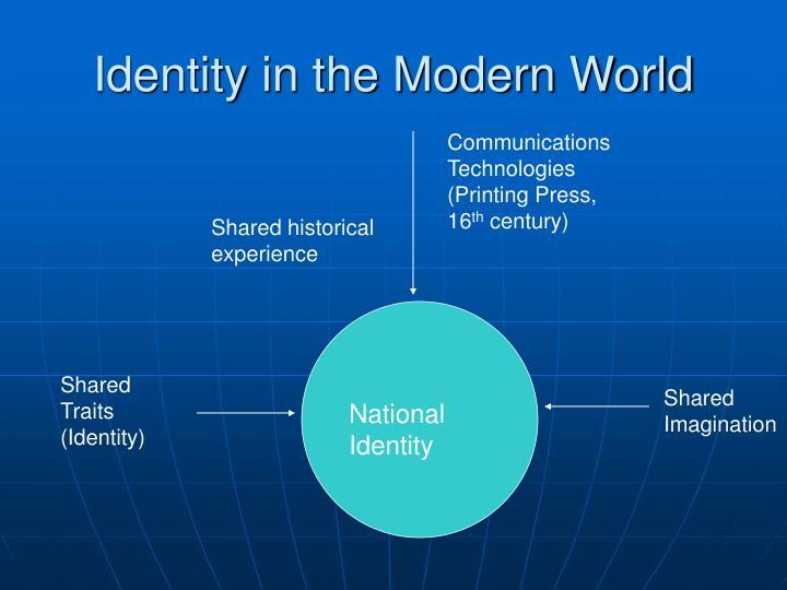 Identity in the modern world