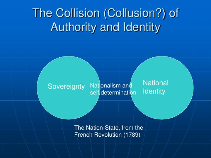 The Collision (Collusion?) of Authority and Identity