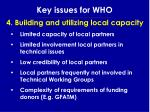 key issues for who24