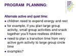program planning1
