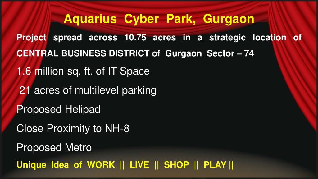 Aquarius  Cyber  Park,  Gurgaon