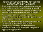 aggregate demand and keynesian aggregate supply curves