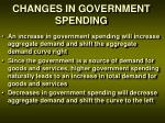 changes in government spending