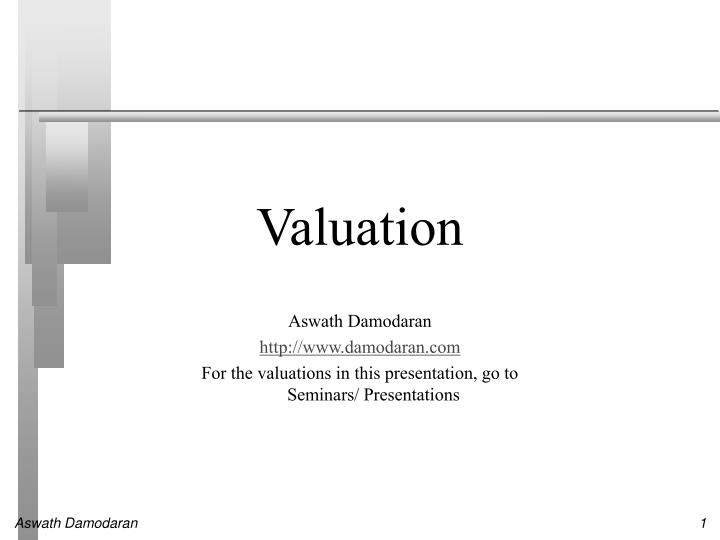 valuation n.