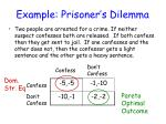 example prisoner s dilemma
