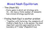 mixed nash equilibrium