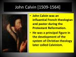 john calvin 1509 1564