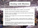 dealing with muslims