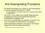 anti downgrading provisions