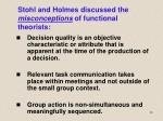 stohl and holmes discussed the misconceptions of functional theorists