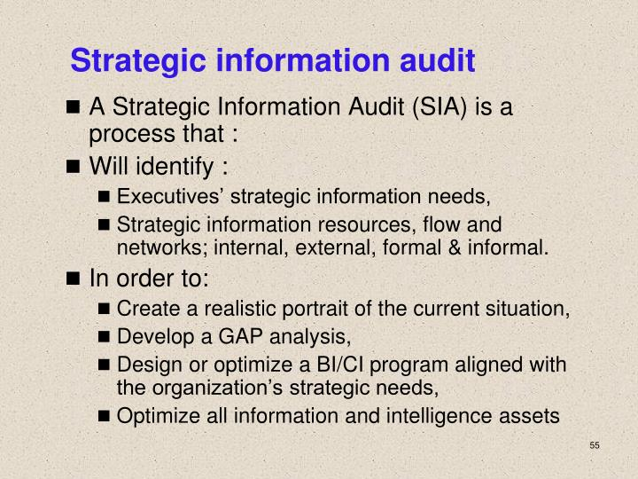 strategic audit Audit strategy generally mean the combination of audit approach to be used, resources management and allocation, timing of audit and the way how audit engagement are managed.