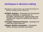 techniques in decision making