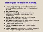 techniques in decision making2