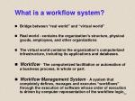 what is a workflow system