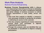 work flow analysis business process reengineering