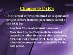 changes to par s