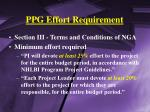 ppg effort requirement