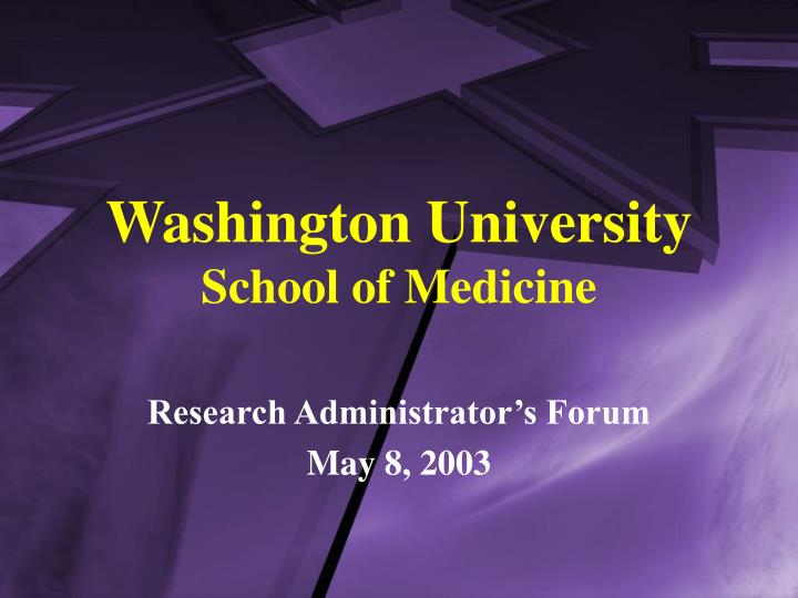 washington university school of medicine n.