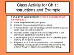 class activity for ch 1 instructions and example