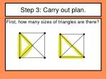 step 3 carry out plan1