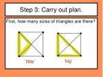 step 3 carry out plan2