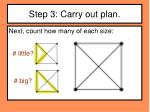 step 3 carry out plan3