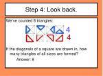 step 4 look back1