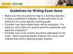 guidelines for writing exam items1