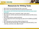 resources for writing tests