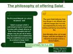 the philosophy of offering salat