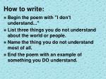 how to write1